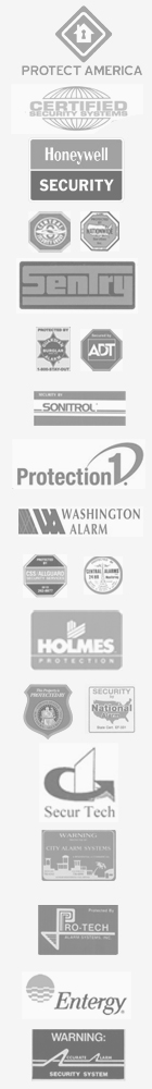 Logos of companies helped by the alarm industry financing, merger and acquisition specialists at rooney & Associates